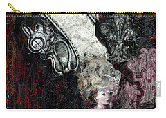 Carry-all Pouch featuring the mixed media Gothic Punk Goddess by Genevieve Esson