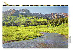 Carry-all Pouch featuring the photograph Gothic Valley - Early Evening by Eric Glaser