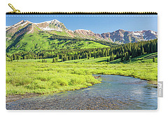 Carry-all Pouch featuring the photograph Gothic Valley - Morning by Eric Glaser
