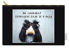 Gotta Love Em Carry-all Pouch by Irma BACKELANT GALLERIES