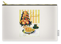 Gourmet Cover Featuring A Centerpiece Of Peaches Carry-all Pouch