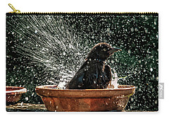 Carry-all Pouch featuring the photograph Grack Bath Flower Pot by Jim Moore