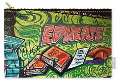 Carry-all Pouch featuring the photograph Graffiti Educates by Lorraine Devon Wilke