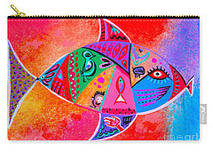 Graffiti Fish Carry-all Pouch