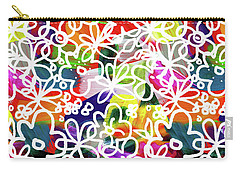 Carry-all Pouch featuring the mixed media Graffiti Garden 2- Art By Linda Woods by Linda Woods