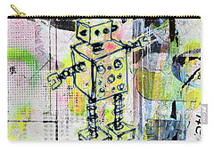 Graffiti Graphic Robot Carry-all Pouch