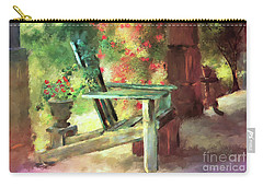 Carry-all Pouch featuring the digital art Gramma's Front Porch by Lois Bryan