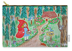 Little Red Riding Hoos With Grammy's House On The Mailbox Carry-all Pouch