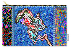 Grand Canvas Abstract Collection Seascape Waves Tornado Island Nightmare Carry-all Pouch by Navin Joshi