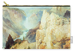 Grand Canyon Of The Yellowstone Park Carry-all Pouch by Thomas Moran