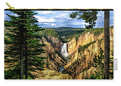 Grand Canyon Of The Yellowstone Waterfall Carry-all Pouch