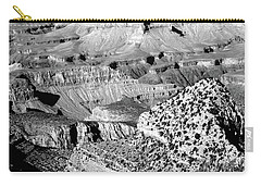 Grand Canyon South Rim Textures 22 Bw Carry-all Pouch