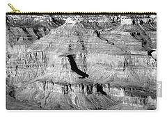 Grand Canyon South Rim Textures 9 Horzontal Bw Carry-all Pouch