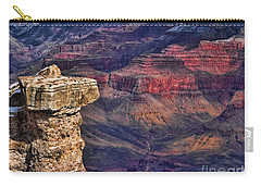 Carry-all Pouch featuring the photograph Grand Canyon Stacked Rock by Roberta Byram