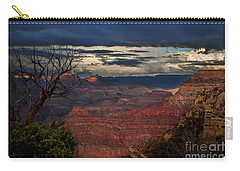 Carry-all Pouch featuring the photograph Grand Canyon Storm Clouds by John A Rodriguez