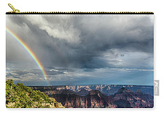 Grand Canyon Stormy Double Rainbow Carry-all Pouch