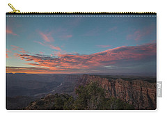 Carry-all Pouch featuring the photograph Grand Canyon Sunset 1943 by David Haskett