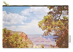 Grand Canyon View With Pine Tree Carry-all Pouch by A Gurmankin