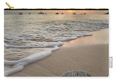 Carry-all Pouch featuring the photograph Grand Cayman Beach Coral At Sunset by Adam Romanowicz