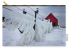 Grand Haven Lighthouse With Ice Carry-all Pouch