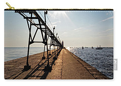 Carry-all Pouch featuring the photograph Grand Haven Pier by Lars Lentz
