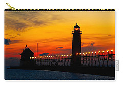 Grand Haven Sunset Carry-all Pouch by Nick Zelinsky