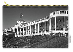 Grand Hotel Mackinac Island 2 Bw Carry-all Pouch by Mary Bedy