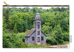 Grand Island East Channel Lighthouse #6549 Carry-all Pouch by Mark J Seefeldt