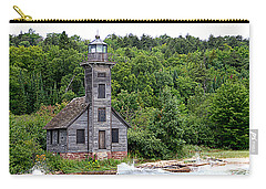 Grand Island East Channel Lighthouse #6680 Carry-all Pouch by Mark J Seefeldt