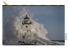 Carry-all Pouch featuring the photograph Grand Marais Light House by Paul Freidlund