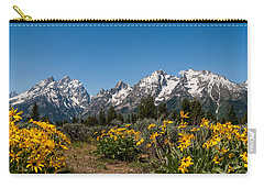 Grand Teton Arrow Leaf Balsamroot Carry-all Pouch
