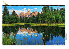 Grand Teton Reflections In Snake River Carry-all Pouch