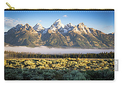 Grand Teton Sunrise Carry-all Pouch by Serge Skiba