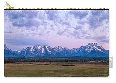 Grand Tetons Before Sunrise Panorama - Grand Teton National Park Wyoming Carry-all Pouch
