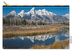 Carry-all Pouch featuring the photograph Grand Tetons by Gary Lengyel
