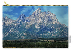 Carry-all Pouch featuring the photograph Grand Tetons by Katie Wing Vigil