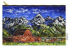 Grand Tetons With Buffalo Carry-all Pouch