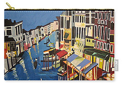 Carry-all Pouch featuring the painting Grande Canal by Donna Blossom