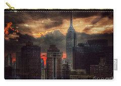 Grandeur Of The Past - Empire State At Sunset Carry-all Pouch by Miriam Danar