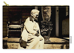 Carry-all Pouch featuring the photograph Grandma Jennie by Paul W Faust - Impressions of Light