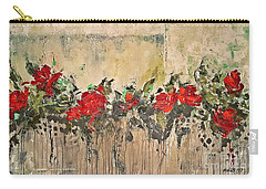 Carry-all Pouch featuring the painting Grandma Roses by AmaS Art