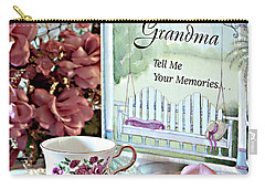Carry-all Pouch featuring the photograph Grandma Tell Me Your Memories... by Sherry Hallemeier