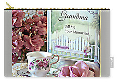 Grandma Tell Me Your Memories... Carry-all Pouch by Sherry Hallemeier