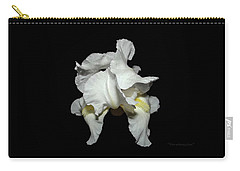 Grandma's White Iris Carry-all Pouch