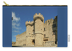 Carry-all Pouch featuring the photograph Grandmaster Palace Rhodes Island Greece 2 by Rudi Prott