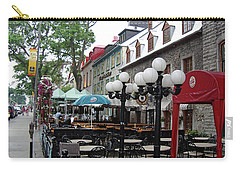 Carry-all Pouch featuring the photograph Grande Allee Est by John Schneider