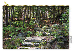 Carry-all Pouch featuring the photograph Granite Steps, Camden Hills State Park, Camden, Maine -43933 by John Bald