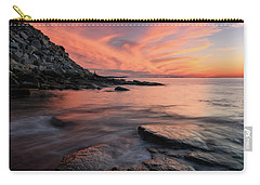 Granite Sunset Rockport Ma. Carry-all Pouch by Michael Hubley