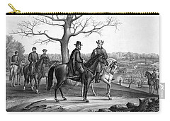 Carry-all Pouch featuring the mixed media Grant And Lee At Appomattox by War Is Hell Store