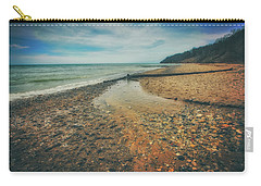 Carry-all Pouch featuring the photograph Grant Park - Lake Michigan Beach by Jennifer Rondinelli Reilly - Fine Art Photography